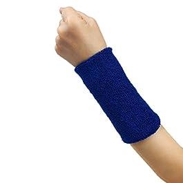 Culater®®®® Donna Sudore in Cotone Banda Wristband Fascia da Braccio Palestra Yoga Fascia di Polso