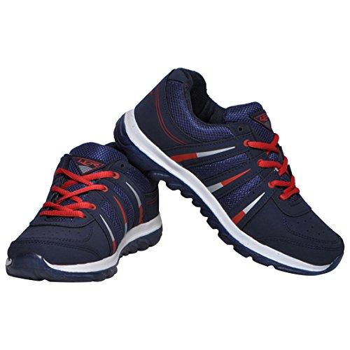 Lancer Men's Black Synthetic Running Shoes (INDUSNBL-RED-43) - (9 UK)