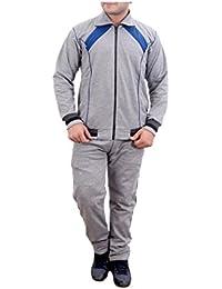 Krystle Men's Light Grey Cotton Warm Tracksuit