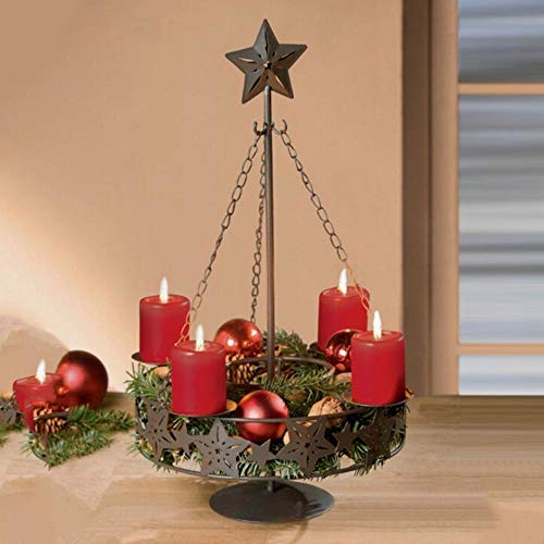 Candlestick - Long Chain Christmas Home Decoration Wire Iron Hollow Candlestick Wall Hanging Candle Holder Lantern - Unfinished Return Brass Mosaic Handheld Tall Rose Mirror Pillar Tapered Crystal-hurricane-vase