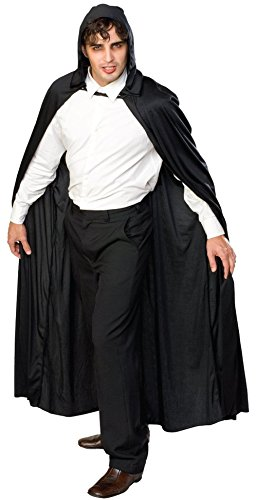 Damen Herren Halloween Umhang Karneval Fasching Kostüm Cosplay Cape mit Kapuze Schwarz
