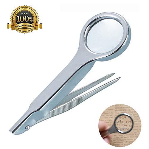 6X Lupe Diamant Schmuck Lupe Pinzette Clip Pinzette Lupe Kit - Antiken Gold-licht-kit