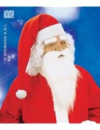 Weisser Weihnachtsmannbart und Augenbrauen im Set