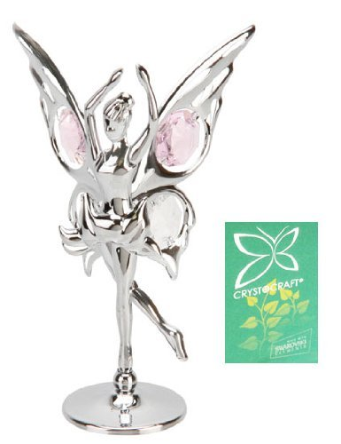 'Crystocraft - Decorative fairy butterfly figure dancing with Swarvoski Crystal elements