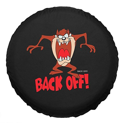 """Jucarvo """"Back Off!"""" Spare Tire Cover Cartoon Character Car SUV Spare Tire Cover R15"""