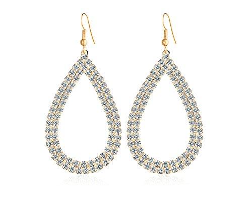 Set Schmuck für Frauen Multi Creolen Drop Ohrringe für Mädchen Fancy Party tragen