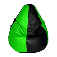 Story at Home Comfort Single Seating Bean Bag Cover Without Beans (Black/Green), Blue, X-Large, BB1419-XL