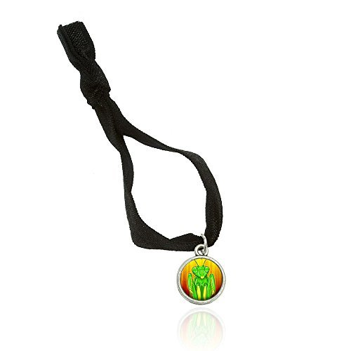 Made on Terra Praying Mantis Sees You Bracelet Double Fold Over Stretchy Elastic No Crease Hair Tie With Charm