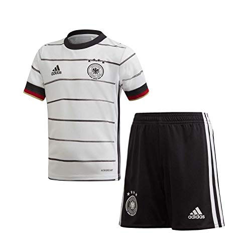 adidas Kinder DFB H Mini Football Set, top:White/Black Bottom:Black, 4-5Y