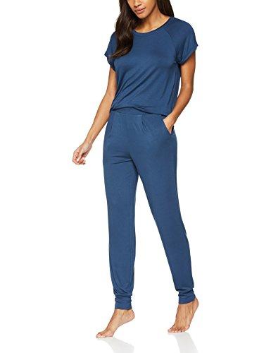Iris & Lilly Damen Basic Cosy Schlafanzughose Blau (Insignia Blue)