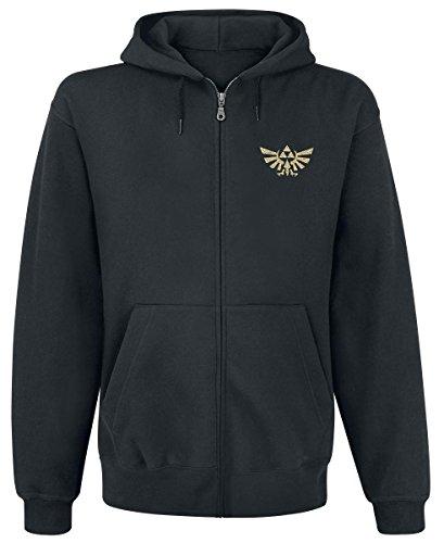 Zelda – Felpa con cappuccio – Con logo sul davanti e maxi stampa dietro