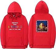 TRAVIS SCOTT Astroworld WISH YOU WERE HERE Rainbow Letter Men Women Pullover Hoodies Fashion Hip Hop Sweatshir
