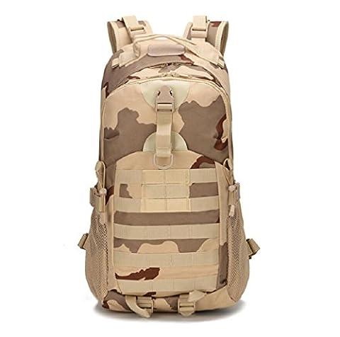 ZC&J Outdoor 20-35L capacité camouflage camouflage tactique, loisirs en plein air randonnée pédestre alpinisme forfait d'exercice, Oxford tissu solide usure réglable ceinture sac bandoulière,A,20-35L