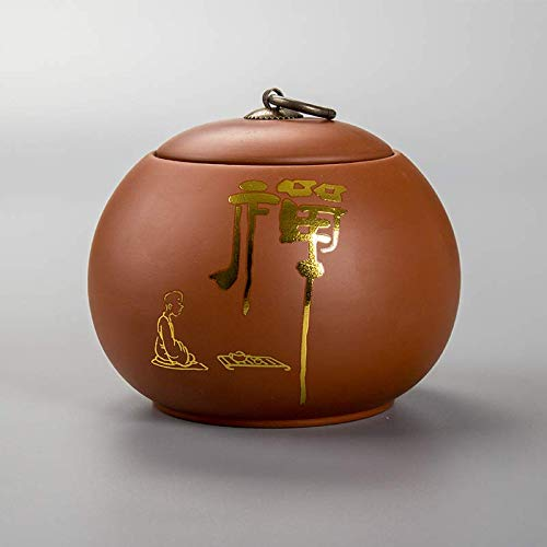 Latas de té de Almacenamiento de té Sellado de Arena púrpura Caja de Embalaje de té portátil Despertador...