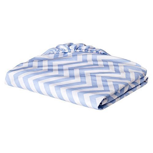 (Circo Woven Chevron Fitted Baby Crib Sheet (Blue) by Circo)
