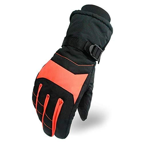 Rouo Wintersport Outdoor Radsport Handschuhe Ski Anti-Rutsch Plus Samt Dicke Warme Handschuhe Orange