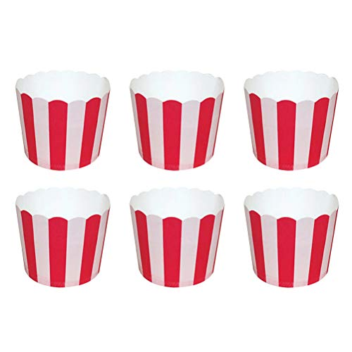 BESTONZON 50pcs Tazas para Hornear Desechables Cupcake Liners Muffin Paper Cups Cupcake Cups para cumpleaños Wedding Party Cake Supplies Decoration (Red) Tamaño S
