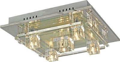 Deckenleuchte Deckenlampe LED Effekt Effektleuchte Fernbedienung RGB ZIRKONIA 990049-5 von Esto auf Lampenhans.de