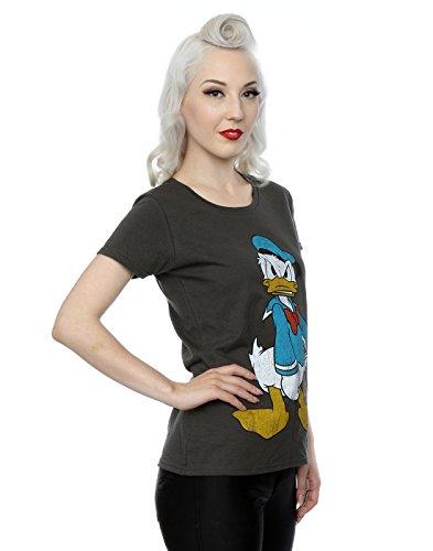 Disney Damen Angry Donald Duck T-Shirt Licht Graphite