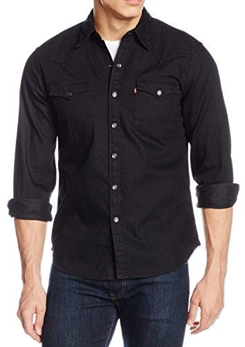 Levis ® Herren Hemd Barstow Western Jeans Black 65816-0216 3XL (Jeans Western)