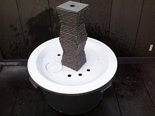 Granit QUELLSTEIN Säule 50 cm NATURSTEIN Gartenbrunnen Wasserbrunnen Wasserspiel