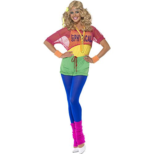 Smiffys Lets Get Physical Girl Costume Woman Fancy Dress (Kostüm Lets Physical Get)