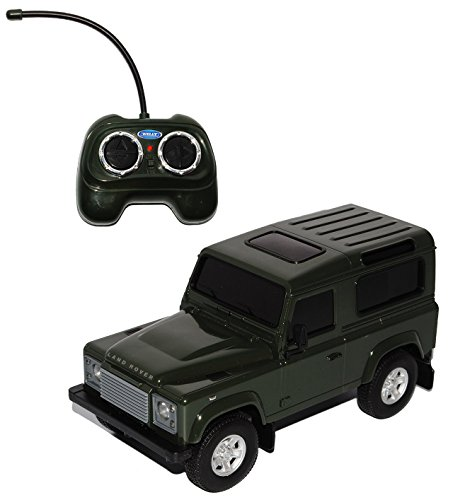 land-rover-defender-3-turer-grun-rc-funkauto-1-24-welly-modell-auto