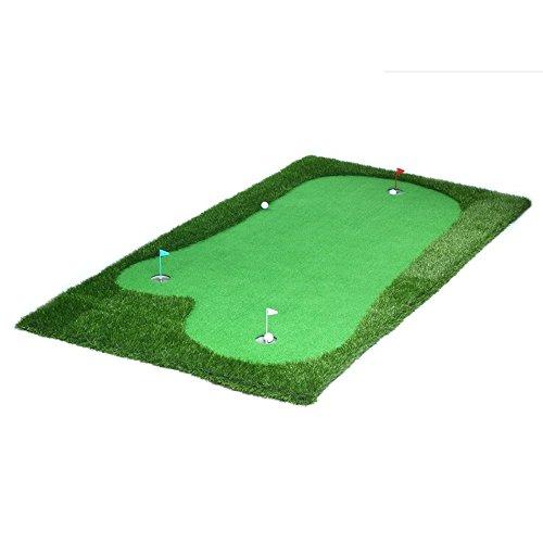 Golf Hitting Mats Golf nichthaarenden grünen Tragbar Praxis Decke Innen Putt Trainingsgerät Mini Erlebnis, Thicker, 2*4M -