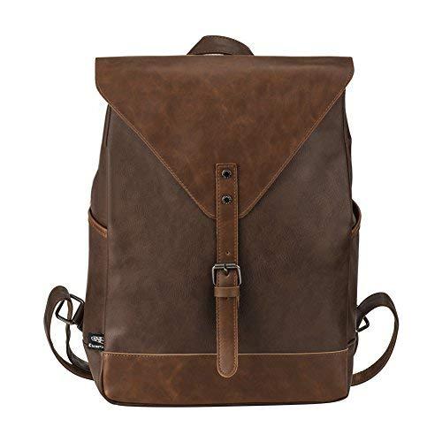 Vintage Rucksack, P.KU.VDSL Retro PU-Leder Rucksack, Wanderrucksack Damen Herren Schultertasche Laptop Rucksack Schulrucksack Uni rucksack ...