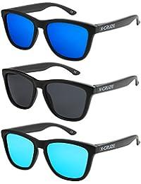 115425273d X-CRUZE® Gafas de sol Nerd polarizadas estilo Retro Vintage Unisex  Caballero Dama Hombre