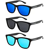 acf69cd043 X-CRUZE - Pack de 3 gafas de sol polarizadas estilo Retro Vintage Unisex  Caballero
