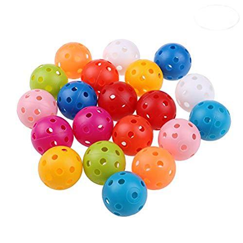 Golf Practice Ball gemischt Farbe 41mm perforiert Kunststoff Training Ball ()