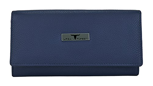 Urban Forest Blue Leather Women'S Wallet