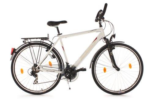 KS CYCLING CLX CLIMAX - BICICLETA DE TREKKING PARA HOMBRE  COLOR BLANCO  RUEDAS 28  CUADRO 58 CM