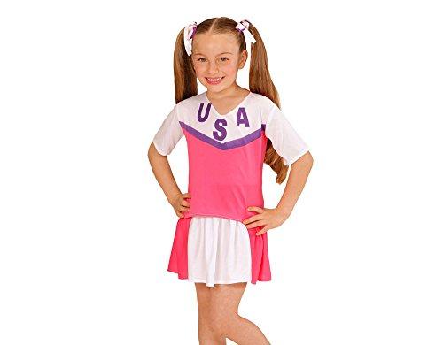 Imagen de disfraz animadora rosa y blanco niña  5 7 años