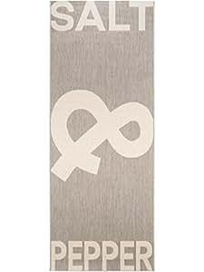 benuta k chenl ufer salt pepper grau 80x200 cm pflegeleichter teppich geeignet k che und. Black Bedroom Furniture Sets. Home Design Ideas
