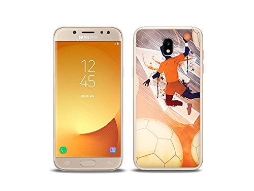 etuo Handyhülle für Samsung Galaxy J5 (2017) Handyhülle Schutzhülle Etui Hülle Case Cover Tasche für Handy Fantastic Case - Handball