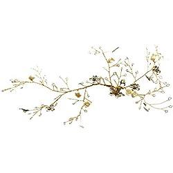 Mariée Luxueux Cristal Chapeaux Accessoires de cheveux, Accessoires de mariage Bande de cheveux fleur, Banquet Conception spéciale Épingle à cheveux Accessoires de cheveux,accessoires de cheveux (Or)