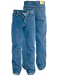Rockford Mens Nouveau étirer Volée De Zip Denim Bleu Jeans Régulière Grand Lit King-Size
