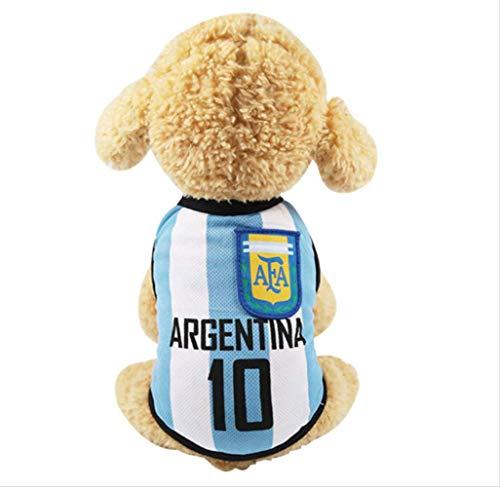 UD-strap World Cup Dog Trikot Fußball T-Shirt Hunde Kostüm National Soccer Dog Pyjama FIFA Jersey Katzen Onesie für Hunde und Katzen