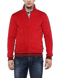 Proline Mens Zip Through Neck Solid Sweatshirt