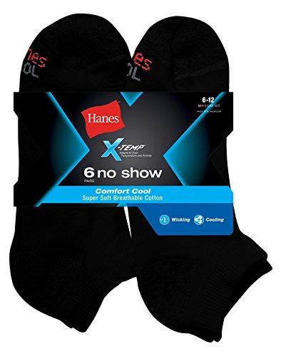 Hanes X-Temp? Comfort Cool? Men`s No Show Socks