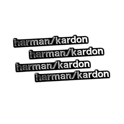 "RunQiao Emblem-Aufkleber mit der Aufschrift \""Harman Kardon\"", 4 Stück, aus Aluminium, für Lautsprecher"