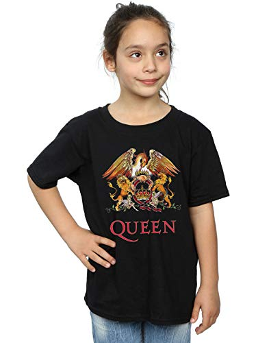 Absolute Cult Queen Niñas Crest Logo Camiseta Negro 9-11 Years