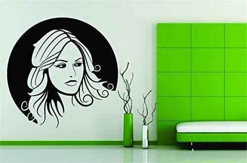 wandaufkleber 3d Dekor Kunst Aufkleber Frauen Mädchen Gesicht Make-up Lippen Schöne Blondine für Mädchen Schlafzimmer Wohnzimmer