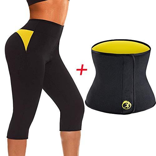 De Sport Perte 2 Pantalon Poids D'entraînement Thermo Amincissant Sauna Femmes Costume Tingsu Shaper Body Chaud Pièces Corsaire qGSpjVMLUz