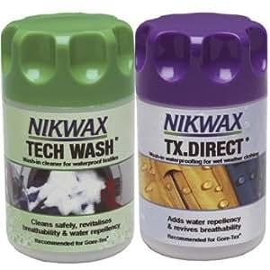 Nikwax TX Direct Wash In/Tech Wash 150ml Twin