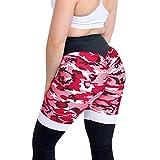 Sporthose Damen Piebo High Waist Yoga Pants Leggings Elastische Tummy Control Yogahose Fitness Strumpfhose Joggen Hose Lange Laufhose Traininghose Tarnung Spleiß Athletische Hosen Camouflage Hose