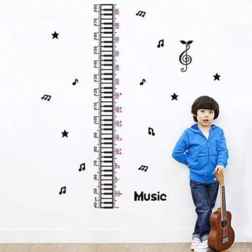 KIHUI Musiknote Wachstum Diagramm Wandaufkleber Kinder Klassenzimmer Dekor.DIY Home Decals höhenmessung Kindergarten Kunstdruck Poster