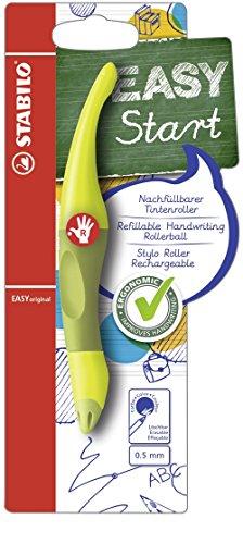 Ergonomischer Tintenroller - STABILO EASYoriginal in limone/grün - Schreibfarbe blau (löschbar) - inklusive Patrone - für Rechtshänder